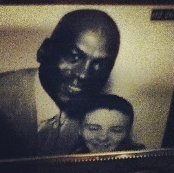 Rocco con su ídolo, Michael Jordan