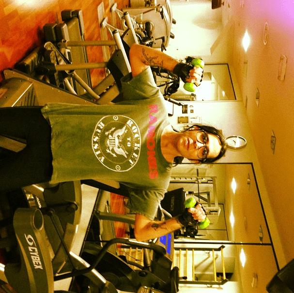 Mario Vaquerizo, addicted to sweat