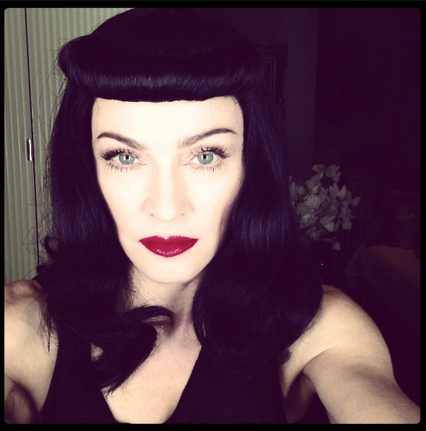 Travesti imitadora de Madonna