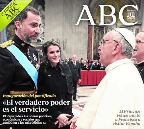 Princesa Letizia Papa Francisco