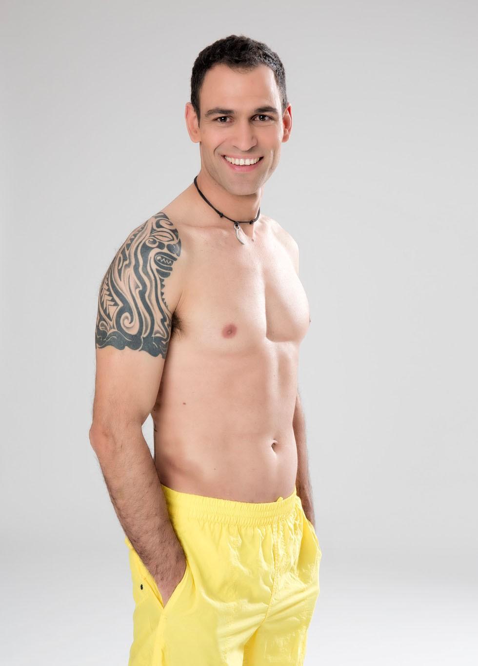 Dario Barrio sin camiseta