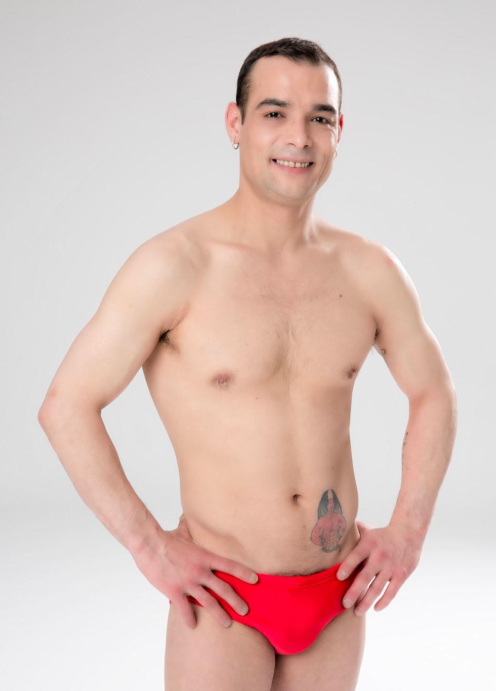 Gervasio Deferr sin camiseta