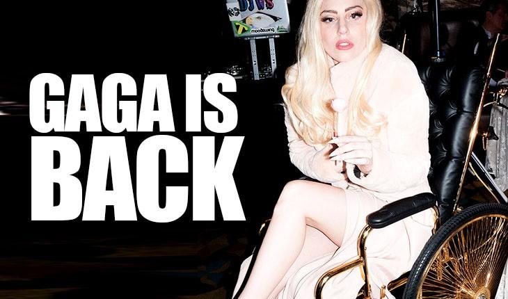 Lady Gaga en silla de ruedas