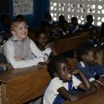 Madonna en Malawi con David y Mercy James Chifundo