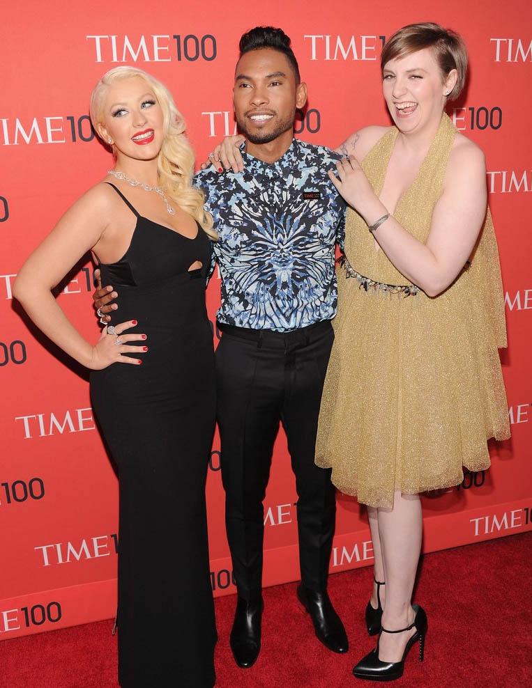 Christina Aguilera Miguel Lena Dunham Time 100 Gala 2013
