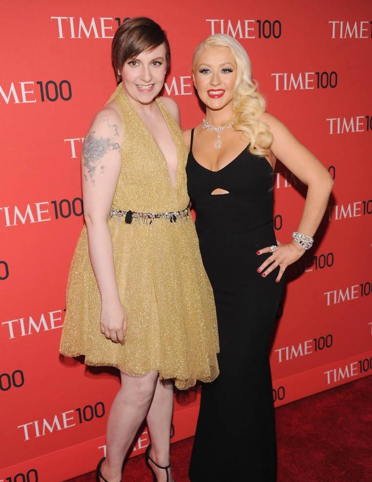 Lena Dunham Christina Aguilera Time 100 Gala 2013