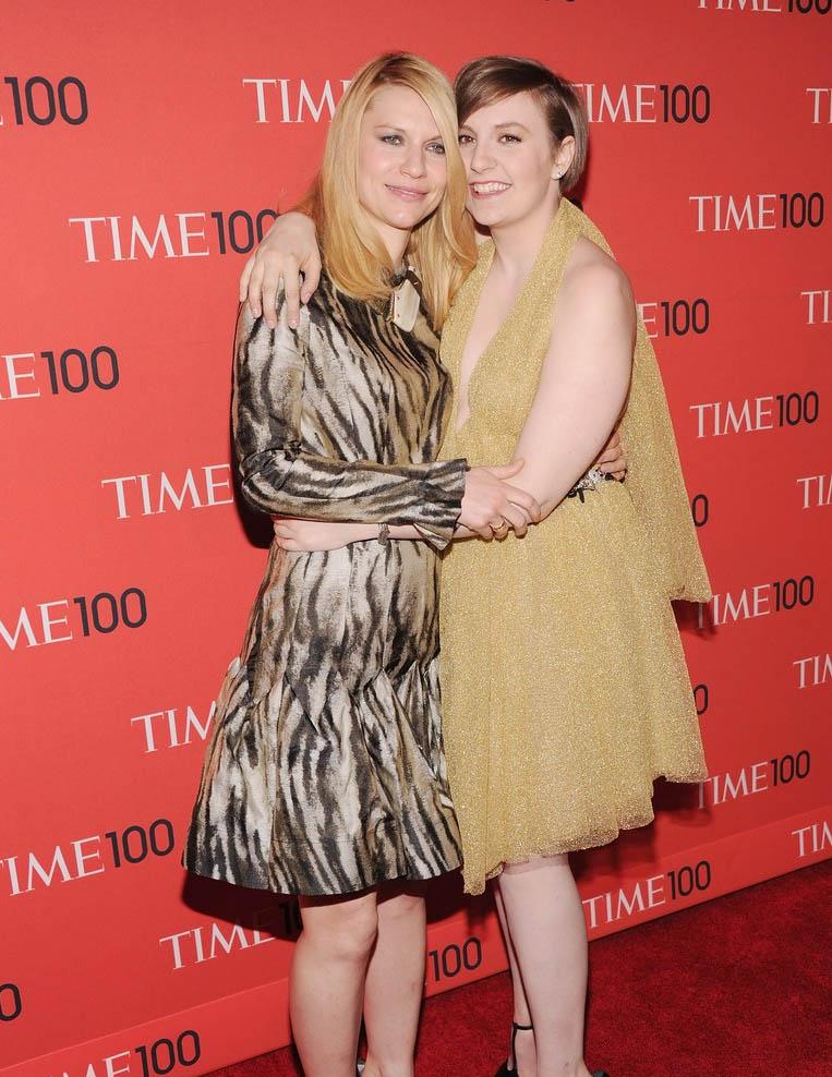 Claire Danes Lena Dunham Time 100 Gala 2013