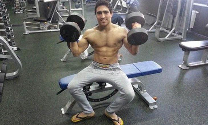 Farid Mammadov en el gimnasio