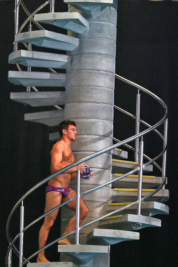 Tom Daley sin camiseta