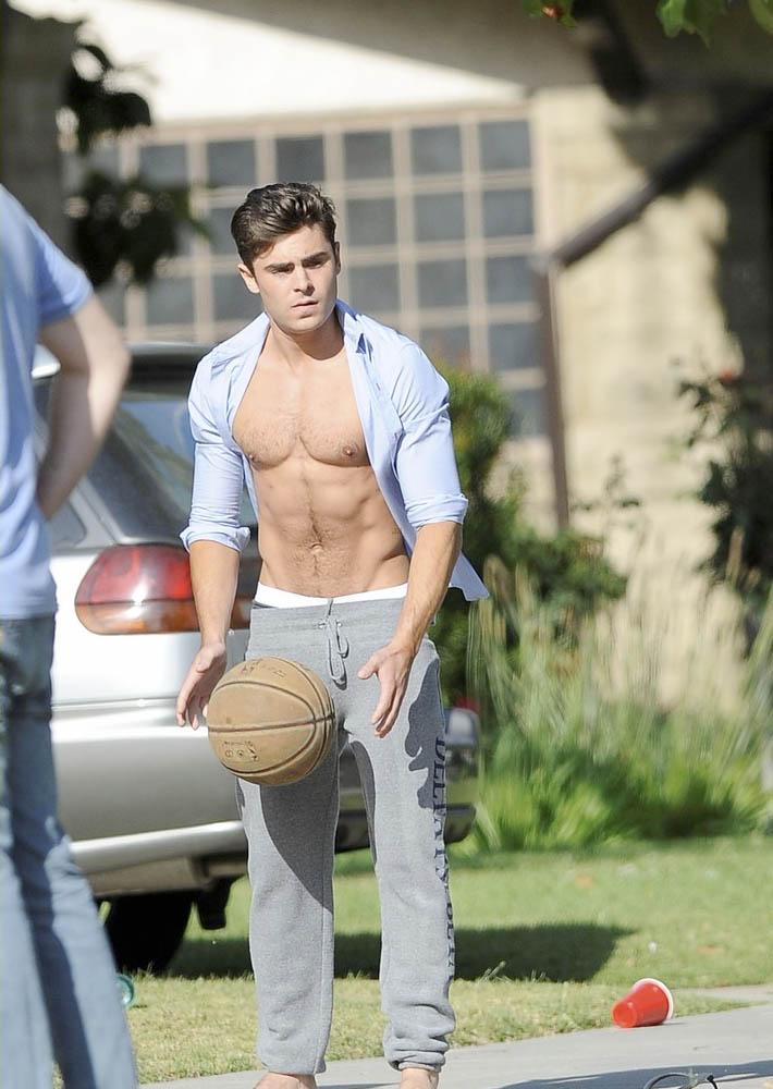 Zac Efron shirtless   ... Zac Efron
