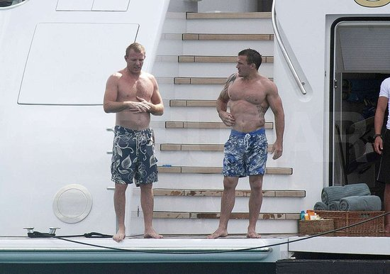Guy Ritchie shirtless