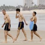 Los jugadores de la Roja en las playas de Brasil