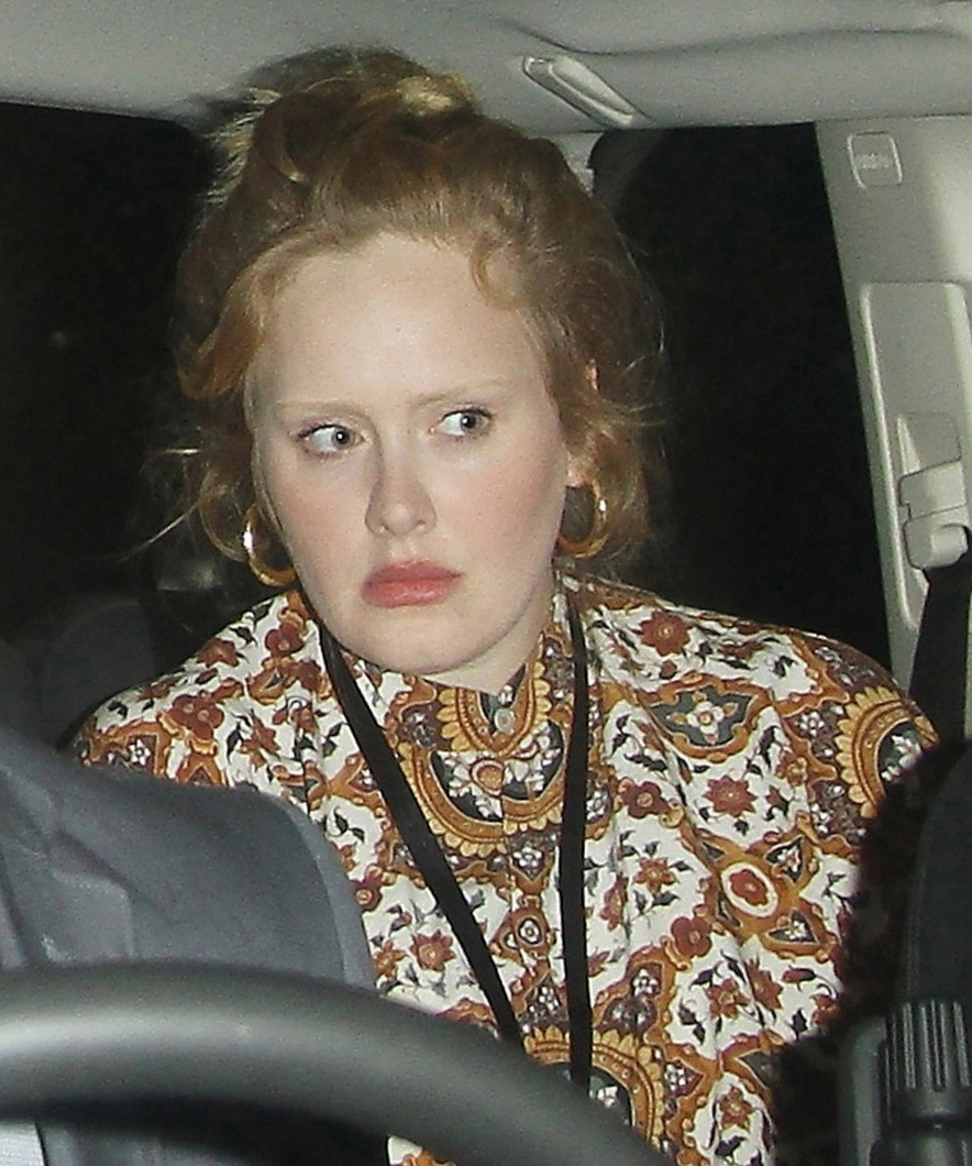 Adele sin maquillaje ¡estupenda!