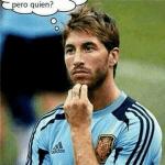 Sergio Ramos pensativo...