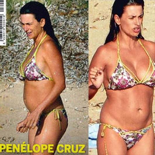 Penélope Cruz en la playa en 2013
