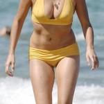 Penélope Cruz en la playa en 2009