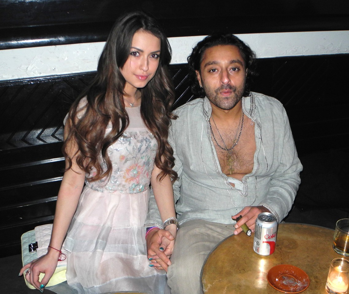 Vikram Chatwal y Esther Cañadas