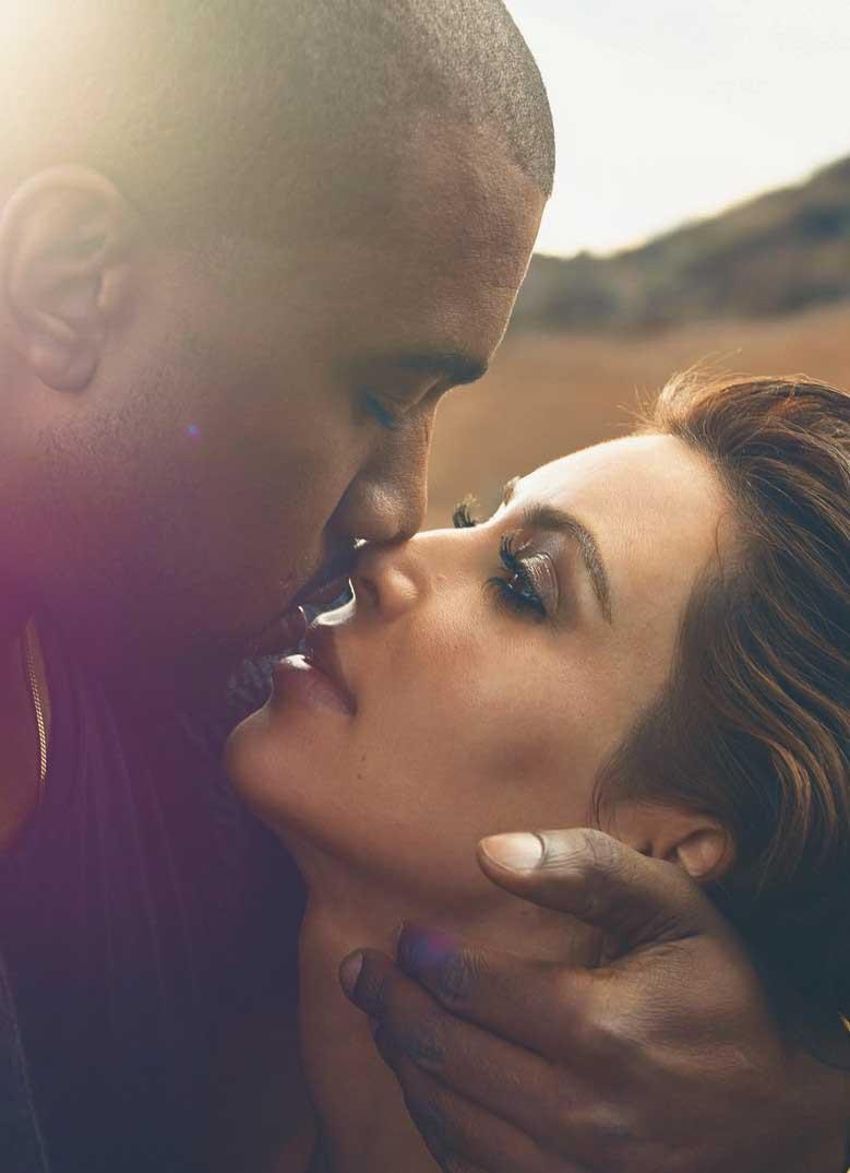 Kim Kardashian y Kanye West en la revista Vogue