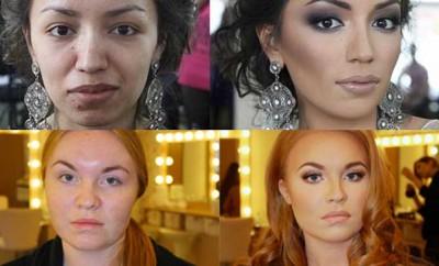 17 mujeres con y sin maquillaje