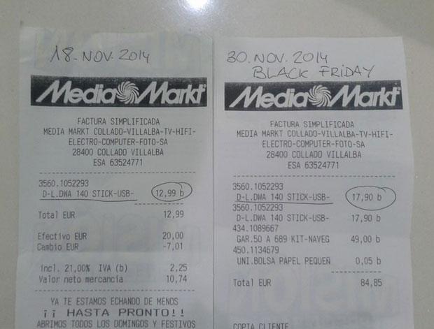Un usuario comprueba los precios antes y despu s del for Media markt fotos precios