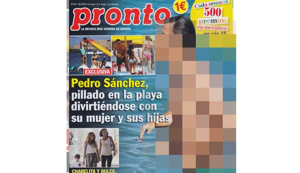 Pedro Sánchez en la playa