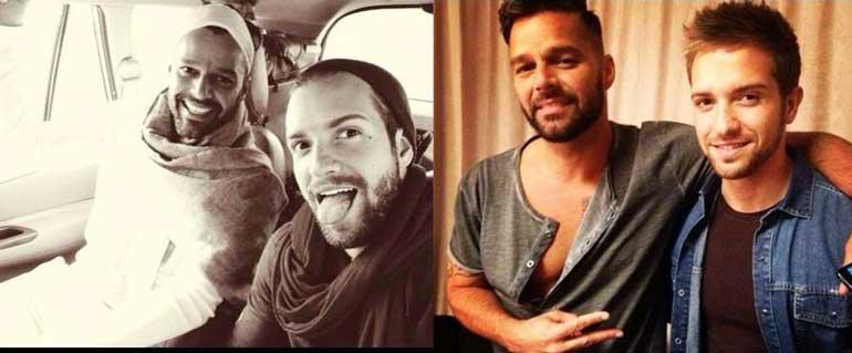 Pablo Alborán y Ricky Martin en la foto que desató la fiebre por saber si es gay o no.