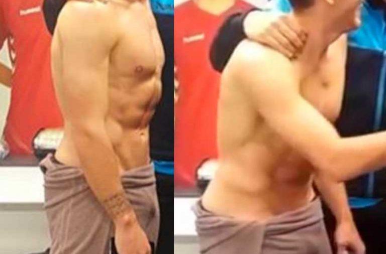 Ibai Gómez desnudo en el vestuario. ¿Pollón a la vista?