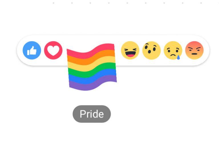 Bandera gay en Facebook.