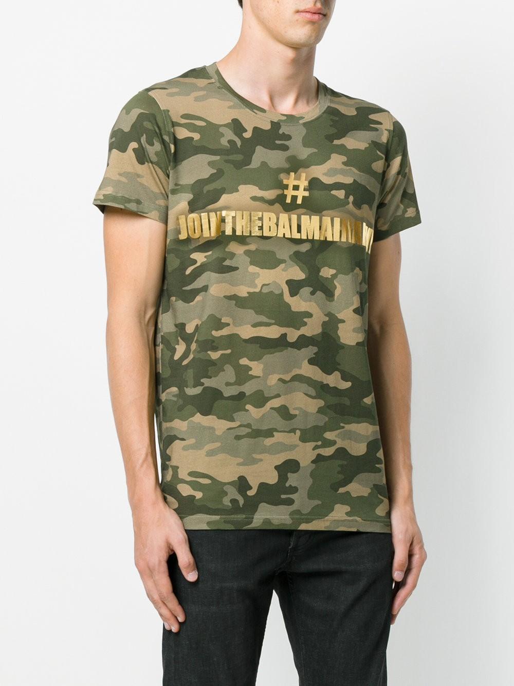Camiseta 'Balmain Army'