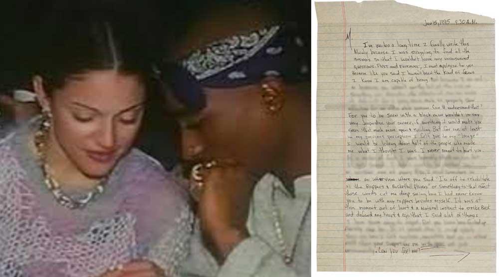 Carta de Tupac a Madonna