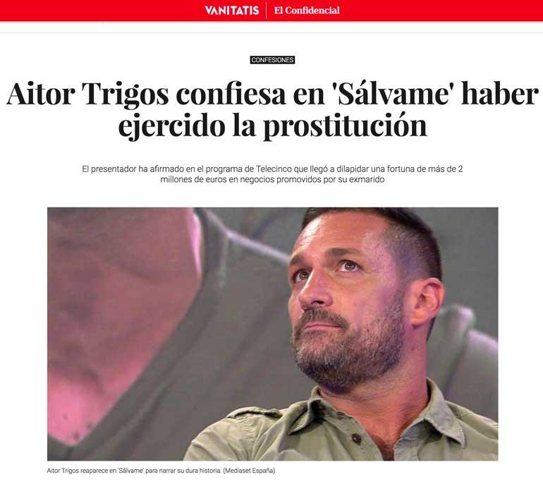 La entrevista de Tony López a Aitor Trigos en Vanitatis.