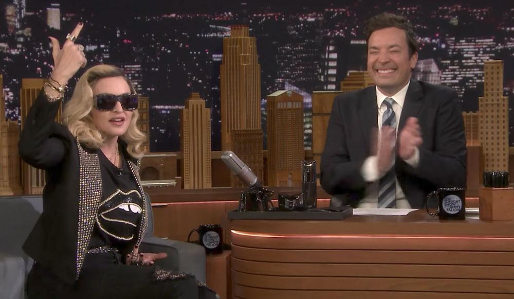 Madonna Jimmy Fallon MDNA Skin