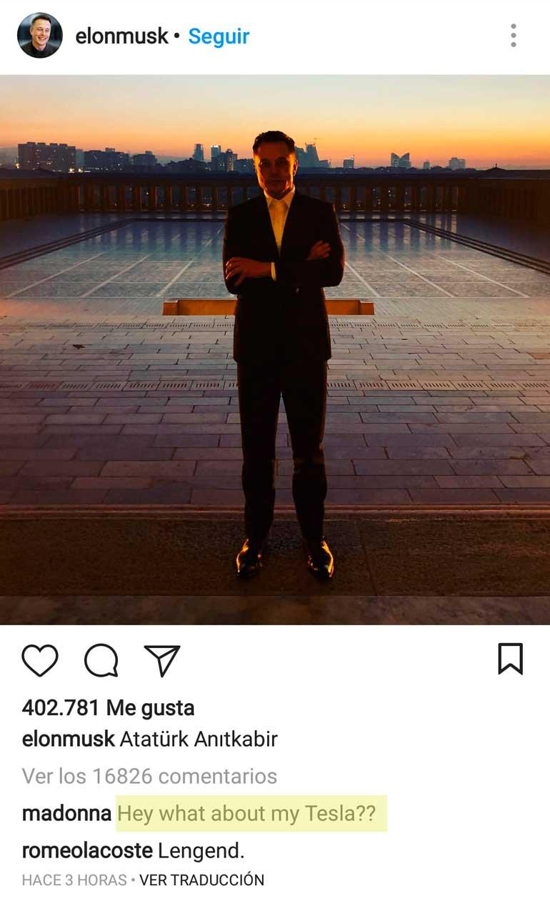 Madonna Elon Musk