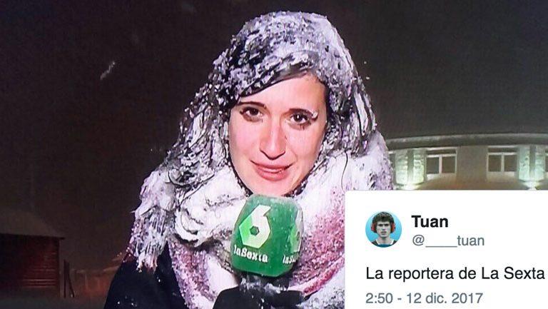 La Reportera de La Sexta Congelada