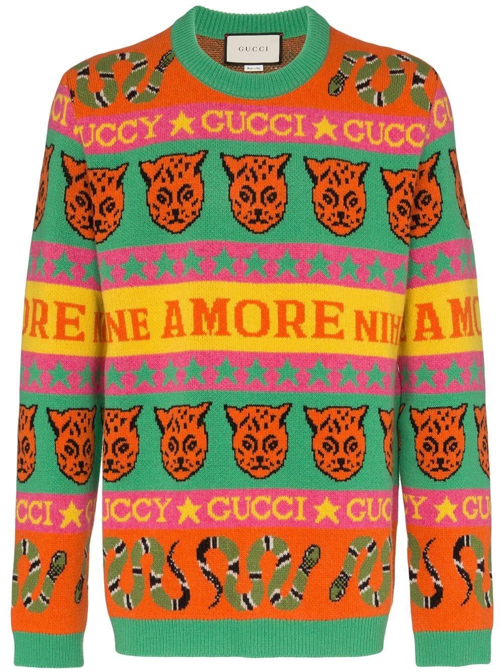 Jersey de Gucci con tigres y serpientes