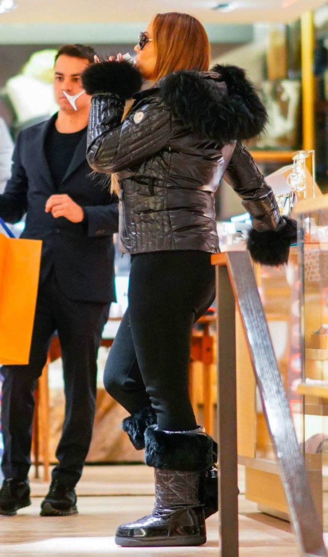 Mariah Carey de compras en Suiza