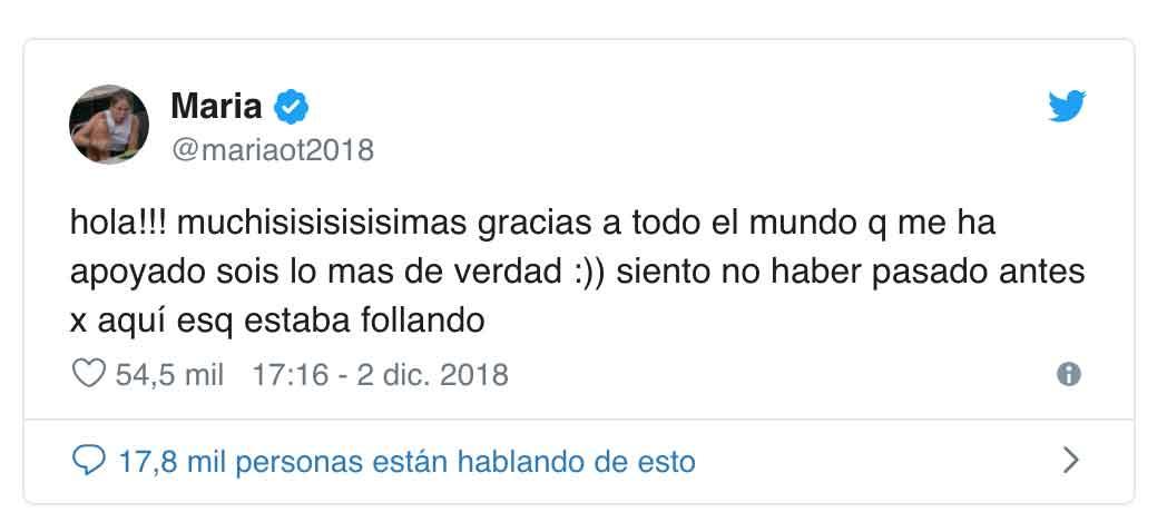 María OT Twitter