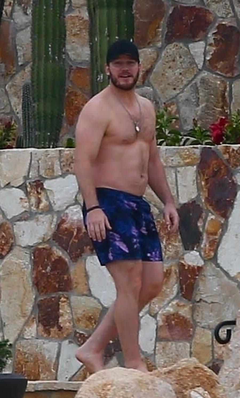 Chris Pratt sin camiseta