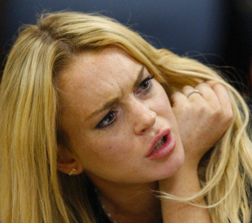 Lindsay Lohan arruinada