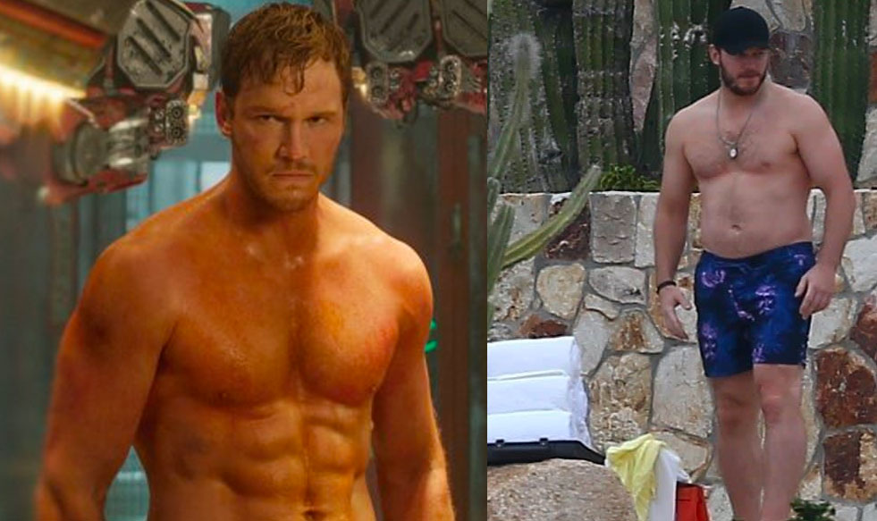 Chris Pratt sin camiseta
