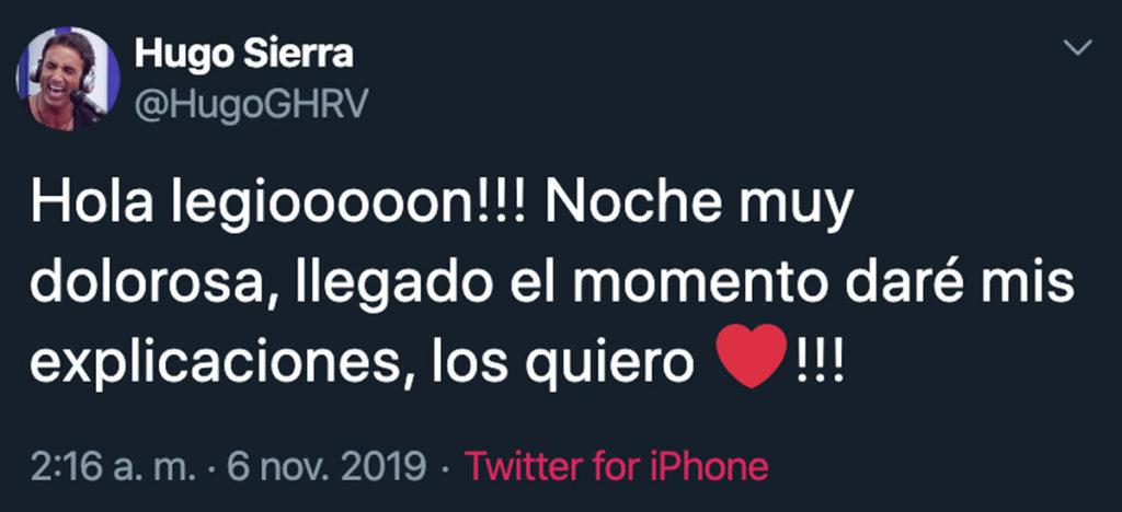 Hugo Twitter