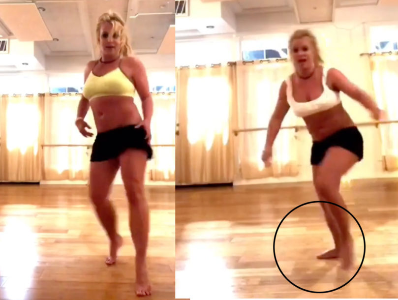 Britney Spears vídeo pie
