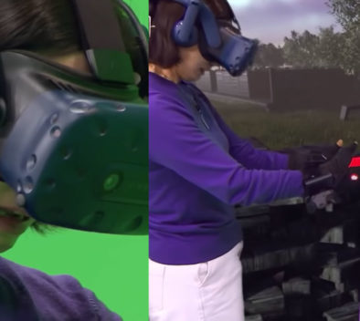 Madre hija realidad virtual