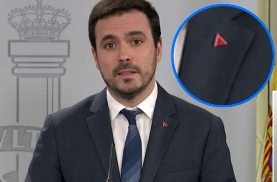 Pin rojo Alberto Garzón